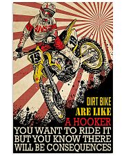Dirtbike Like A Hooker 24x36 Poster front