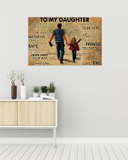 Softball To My Daughter PDN ngt 36x24 Poster poster-landscape-36x24-lifestyle-01