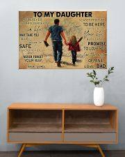 Softball To My Daughter PDN ngt 36x24 Poster poster-landscape-36x24-lifestyle-21