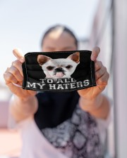 chihuahua to all my haters mas Cloth Face Mask - 3 Pack aos-face-mask-lifestyle-07