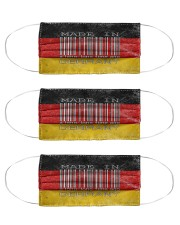 Germany Made In Code  Cloth Face Mask - 3 Pack front