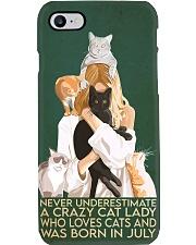Cat Crazy Cat Lady Born In July phonecase Phone Case i-phone-8-case