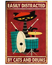 Music Cat Drum Easily Distracted PDN-nna 11x17 Poster front