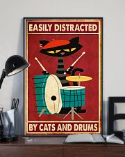 Music Cat Drum Easily Distracted PDN-nna 11x17 Poster lifestyle-poster-2