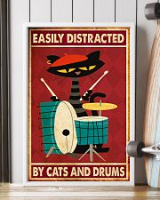 Music Cat Drum Easily Distracted PDN-nna 11x17 Poster lifestyle-poster-4