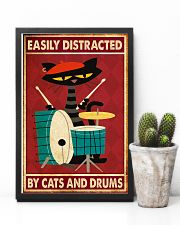 Music Cat Drum Easily Distracted PDN-nna 11x17 Poster lifestyle-poster-8