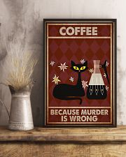 Music Cat Coffee Easily Distracted PDN NTH 11x17 Poster lifestyle-poster-3