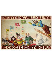 Skiing Cat Choose ST Fun PDN-dqh 17x11 Poster front