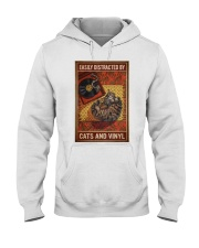 Music Cat Vinyl Easily Distracted 4 PDN-NTH Hooded Sweatshirt thumbnail