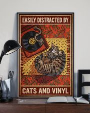 Music Cat Vinyl Easily Distracted 4 PDN-NTH 11x17 Poster lifestyle-poster-2