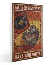 Music Cat Vinyl Easily Distracted 4 PDN-NTH 20x30 Gallery Wrapped Canvas Prints thumbnail