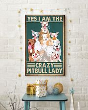Crazy Pitbull Lady 11x17 Poster lifestyle-holiday-poster-3