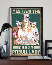 Crazy Pitbull Lady 11x17 Poster lifestyle-poster-2