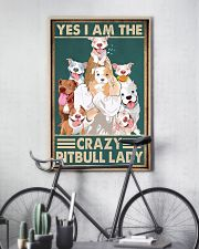 Crazy Pitbull Lady 11x17 Poster lifestyle-poster-7