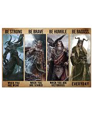 Viking God Strong Brave Humble 2 PDN-dqh 17x11 Poster front