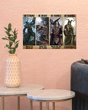 Viking God Strong Brave Humble 2 PDN-dqh 17x11 Poster poster-landscape-17x11-lifestyle-21