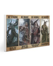 Viking God Strong Brave Humble 2 PDN-dqh Gallery Wrapped Canvas Prints tile