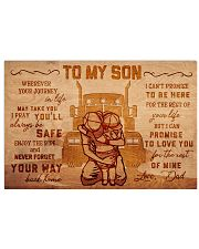 Trucker to my son 17x11 Poster front
