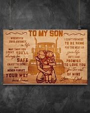 Trucker to my son 17x11 Poster poster-landscape-17x11-lifestyle-12