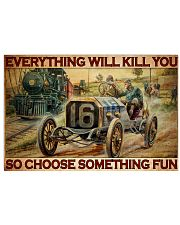 Hot Rod Vs Train ST Fun PDN-dqh 17x11 Poster front