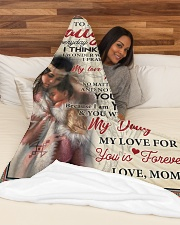 """Native To My Daughter FLB PDN-nna Large Fleece Blanket - 60"""" x 80"""" aos-coral-fleece-blanket-60x80-lifestyle-front-03"""