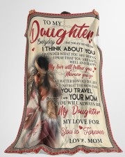 """Native To My Daughter FLB PDN-nna Large Fleece Blanket - 60"""" x 80"""" aos-coral-fleece-blanket-60x80-lifestyle-front-10"""