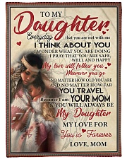 """Native To My Daughter FLB PDN-nna Large Fleece Blanket - 60"""" x 80"""" front"""