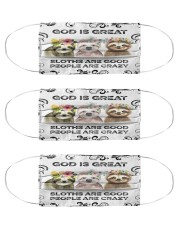 Sloth is Good Msk Cloth Face Mask - 3 Pack front