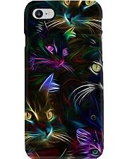 Cat Neon PC Phone Case i-phone-8-case