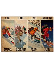 Skiing To Feel  PDN-dqh 17x11 Poster front