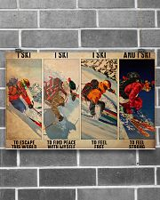 Skiing To Feel  PDN-dqh 17x11 Poster poster-landscape-17x11-lifestyle-18