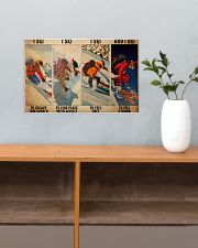 Skiing To Feel  PDN-dqh 17x11 Poster poster-landscape-17x11-lifestyle-24