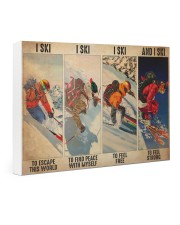Skiing To Feel  PDN-dqh Gallery Wrapped Canvas Prints tile