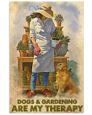 Gardening Dog Are My Therapy PDN nna 24x36 Poster front