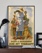 Gardening Dog Are My Therapy PDN nna 24x36 Poster lifestyle-poster-2