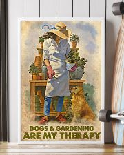 Gardening Dog Are My Therapy PDN nna 24x36 Poster lifestyle-poster-4