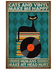 Music Cat Vinyl Make Me Happy3 PDN-dqh 11x17 Poster front