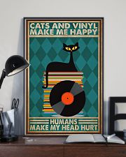 Music Cat Vinyl Make Me Happy3 PDN-dqh 11x17 Poster lifestyle-poster-2
