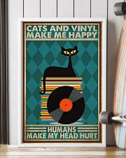Music Cat Vinyl Make Me Happy3 PDN-dqh 11x17 Poster lifestyle-poster-4