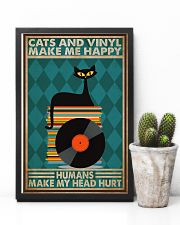 Music Cat Vinyl Make Me Happy3 PDN-dqh 11x17 Poster lifestyle-poster-8