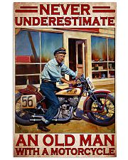 Motorcycle Indi Old Man Never Under Estimate PDN  24x36 Poster front