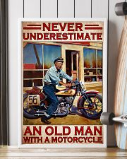 Motorcycle Indi Old Man Never Under Estimate PDN  24x36 Poster lifestyle-poster-4
