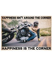 Motocycle Corner Happiness PDN-pml 17x11 Poster front