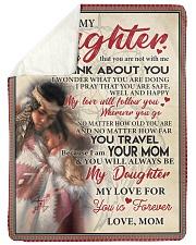 "Native To My Daughter FLB PDN nna  Large Sherpa Fleece Blanket - 60"" x 80"" thumbnail"