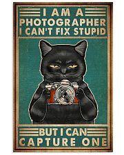 Cat Photograph I Can't Fix Stupid 11x17 Poster front