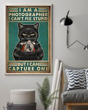 Cat Photograph I Can't Fix Stupid 11x17 Poster lifestyle-poster-1