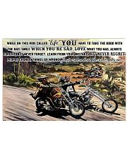 easy ride Motocycle On This Ride PDN-dqh 17x11 Poster front