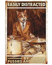 Cat drum easily distracted 11x17 Poster front