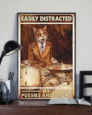 Cat drum easily distracted 11x17 Poster lifestyle-poster-2