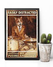Cat drum easily distracted 11x17 Poster lifestyle-poster-8